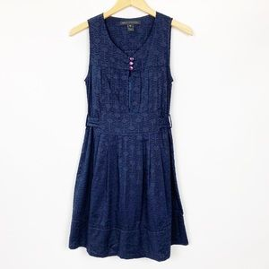 Marc by Marc Jacobs Navy Blue Tie Back Dress